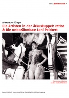 Artists in the Big Top: Perplexed & The Indomitable Leni Peickert DVD Edition Filmmuseum